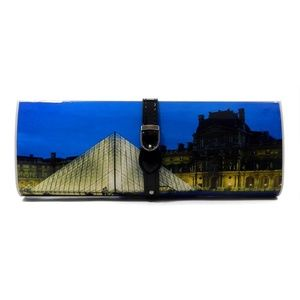 Paris Graphic Fashion Clutch w/ Detachable Strap